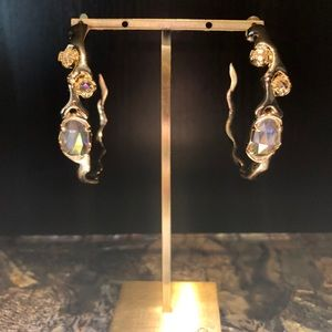 EUC Kristin Hoop earrings in Clear Iridescent